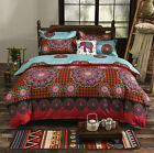 Oriental Mandala Bedding Duvet Cover with Pillowcase Quilt Cover Set #D