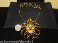 RARE Vintage couture 1955 signed JOMAZ runway mogul eyes Chunky Lion necklace