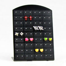 Fashion 72 Holes Earrings Jewelry Show Black Display Stand Holder Showcase