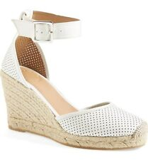 Marc by Marc Jacobs NIB D'Orsay Perf Leather Wedge Sandal Pump White 41 EU $268