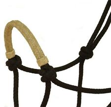 NYLON COW BOY ROPE HALTER RAW HIDE COVERED NOSE BAND BLACK HORSE HAIR FRUITITY