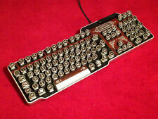 Steampunk Keyboard (wood effect)