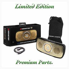 Monster Beats By Dre Limited Edition 24K Bluetooth Speaker Waterproof New Pill