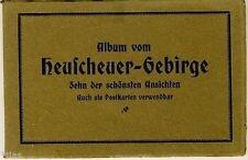 Ansichtskarten-Album Heuscheuer Gebirge 10 Stück als Leporello um 1920