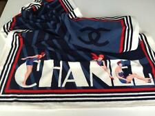 "NWOT Authentic CHANEL CC Logo Cotton Terrycloth HUGE Beach Towel 70"" x 39"""