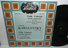 MWL 330 Kabalevsky Violin Concerto David Oistrakh Cello Concerto Daniil Shafran