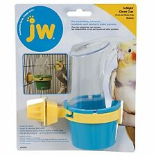 JW Pet Company Clean Cup Feeder and Water Cup Bird Accessory, Medium, Colors New