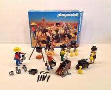 PLAYMOBIL 3747 WESTERN COWBOY GOLD HUNTERS COMPLETE With BOX MINERS PROSPECTORS