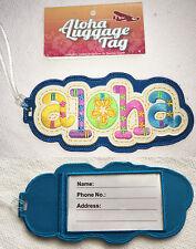 Hawaiian Luggage ID Bag Tag Travel Accessories Embroidery Canvas ALOHA Hawaii NB