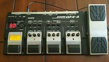 Zoom GFX-4 Multi-Effects Guitar Effect Pedal and power supply BARELY USED
