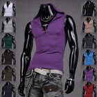 Jeansian Mens T-Shirts Tee Vest Tank Top Hoodie Sport Slim 11 Colors 4 8362
