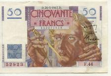 BILLET BANQUE 50 Frs LE VERRIER 20-03-1947 D F.46 SPL 923