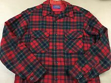 Vintage PENDLETON Mens Flap Pocket 60's Wool Flannel Button Front Board Shirt M