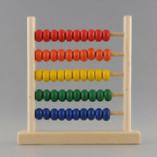 5-Row Classic Wooden Abacus Child Educationnal Calculate Count Numbers