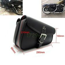 2X Motorcycle Left Rght Saddle Swingarm Side Bag for Sportster 1200 Black