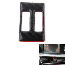 Carbon Fiber Middle Console Air Vent Outlet Cover Trim For Audi A4 B8 A5 2013-15