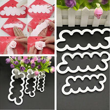New 3Pcs 3D Rose Flower Fondant Cake Chocolate Sugarcraft Mould Mold Tool White