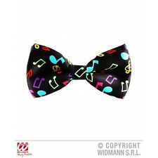 Music Note Bow Tie for Clown Gangster 40s 50s 80s Fancy Dress