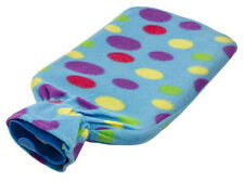 2L rubber hot water bottle covered with a soft fleece fabric warmer bag litre
