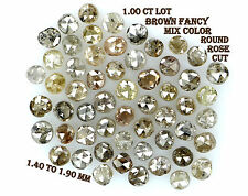 1.00 Cts Lot Natural Loose Diamond Round Rose Cut Brown Fancy Mix Color N16