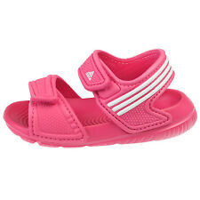Adidas Akwah 9 Infant AF3867 Pink White Baby Girls Strap Sandals Toddler Size 9