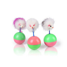 Favorite Pet Cats Toys Mimi Mouse Tumbler Plastic Balls Playing Random Color