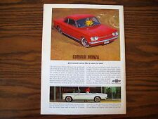 1963 Chevrolet Corvair Monza Print Car Ad - Excellent  Condition