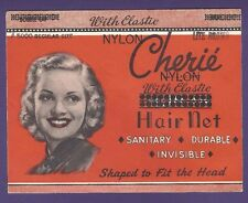 UNUSED Vintage Cherie Nylon with Elastic Hair Net - Original Packaging