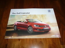 VW Golf Cabrio Prospekt 10/2014