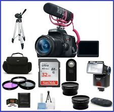 Canon EOS Rebel T6i with 18-55mm Lens Video Creator 32GB Pro Bundle