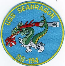 USS Seadragon SS 194 - Dragon Chewing Flag - Submarine - BC Patch Cat No B739