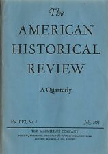 American Historical Review 1951 July-Macmillan Co Thomas Paine Etc