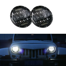2x7''Inch Round LED Headlight Hummer Lamp & DRL For Jeep Wrangler JK TJ 97-17