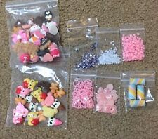 Mixed Decoden Pieces, Kawaii Bears, Desserts, Hearts, Pearls, Candy Pieces Lot+