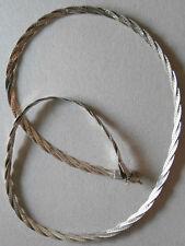 COLLANA CATENA ARGENTO 925 INTRECCIATA 46 cm. silver necklace J14