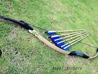 Handmade Real Cobra snakeskin Archery longbow 20lbs-65lbs +6 Nice wooden arrows