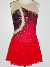 CUSTOM MADE TO FIT Stunning Figure Skating Dress WITH CRYSTALS