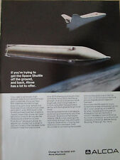 10/1973 PUB ALCOA ALUMINIUM AEROSPACE ALLOY SPACE SHUTTLE ESPACE NASA AD