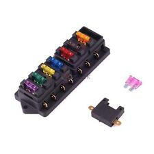 Universal 8 Way Circuit Standard Blade Fuse Box Holder Block Car Truck 12V/24V
