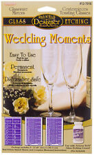Armour Rub'N'Etch Glass Etching Stencil Wedding Moments