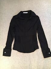 Black Karen Millen shirt size UK 10