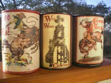3 pound Soy Can Candle Western Cowboy Cowgirl Cows Horse Roundup Free Shipping