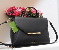 NWT Authentic Kate Spade Maple Camden Way Palermo Leather Bow Bag Black NEW $358