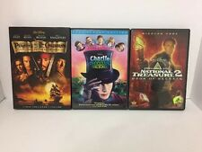 Lot Of 3 Family DVD Charlie & The Chocolate Pirates Of The Caribbean Johnny Deep