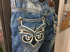 AFFLICTION ACE FLEUR BRENTWOOD MEN'S JEANS STRAIGHT LEG CUSTOM Sz 33 NEW w TAGS