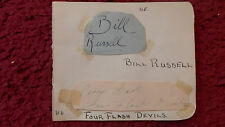 ACTOR BILL RUSSELL / TAP DANCERS THE FOUR FLASH DEVILS AUTOGRAPHS
