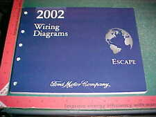 2002 FORD ESCAPE WIRING DIAGRAMS MANUAL GAS MODELS mint