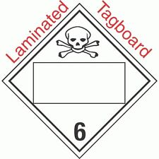 Blank Window Toxic Class 6.2 Laminated Tagboard Placard (Pack of 50)