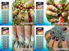 SmART-nails - Xmas Nail Art Stencils Snow Flake, Snowman, Holly & Christmas Tree