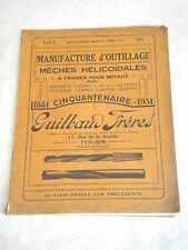 French Trade Catalogue Brochure 1931 Workshop tools drills taps and dies bits